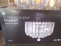 Clarence 4 light pendant for sale
