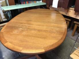 Oval Teak Dining Room Table