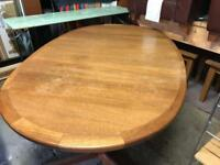 Oval Teak Dining Room Table