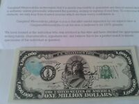 genuine mad frankie fraser signed bank note collectable with COA