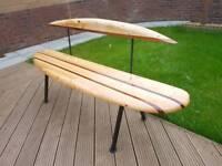 garden bench surf board