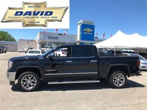 2016 GMC Sierra 1500 SLT 4WD CREWCAB 143.5/ LEATHER/ REAR CAM/ K