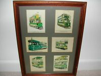 Six Postcards of Old Trams in one Frame
