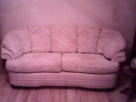 Three seater setee and chair