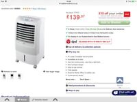 Portable air condititioning unit.