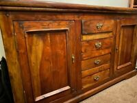 Rustic solid wood sideboard