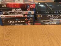 Blu ray and dvd bundle x11 films