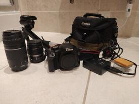 Cosina 100-500 camera lens and Nikon adapter + Vivitar lens