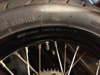 Wr125x supermoto rear wheel