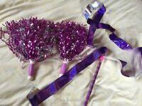 Dance Pom poms and ribbon
