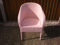 Chair, Lloyd Loom pink
