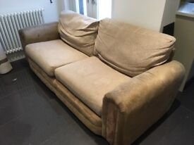 FREE three Seater sofa. Used but in good condition, need gone as won't fit in new sitting room!