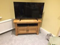 TV Corner Unit, Oak, Good Condition