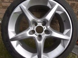 vauxhall penta 18 inch alloy wheel and tyre.
