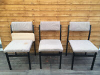 3 OF METAL CHAIRS WITH CUSHION
