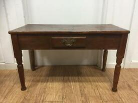 Small antique low console table