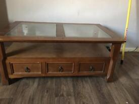 Lovely solid wood tv unit/coffee table