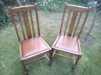 Wooden Vintage Dining Chairs
