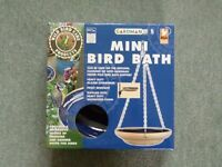 Gardman mini ceramic hanging bird bath - new in packaging
