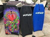 Reduced yo £10. 3 x Body surf boards in a bag.
