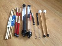 7x Unused Percussion Brushes/Mallet/Sticks (£86 on Amazon)