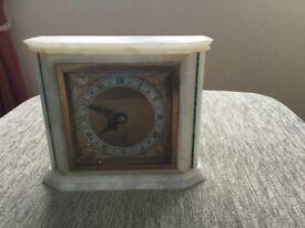 Elliott of London 8day onyx case mantle clock