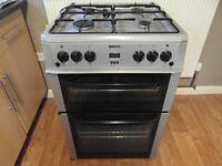 Beko Full Gas Oven/Grill/Hob Freestanding Grey