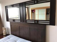 Kingsize bed & stag bedside tables