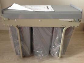 New Hafele 3x10l pull out bin