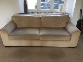 NEXT Beige Sofas - 1 x 3 Seater , 1 x 2 seater