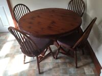 Ducal Rosewood table and 4 chairs