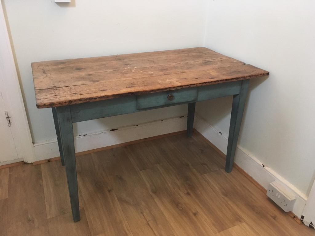 Solid wood French antique table
