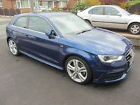 Blue - Audi A3 S-line 1.8 TFSI 180PS - 2013 - Manual - FSH - 18 Inch Alloy Wheels - Immaculate