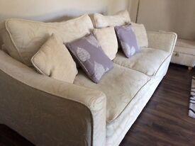 4-2-1 ivory /cream suite of furniture