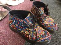 Dr Martin mosaic ankle boots
