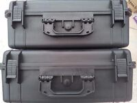 2x Waterproof Hard Shell Tool Test Equipment Camera Case Foam 515x435x225MM Large Motorbike Panniers