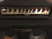 Behringer Bass head and Cab (450W Head and 1000W Cab with Tweeter