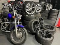 "19"" inch staggered 2f forged alloys wheels 5x120 bmw 3 4 series f10 f30 f20 m sport black"