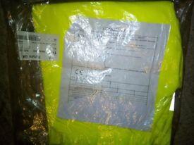 Man's Hi-Vis Trouser Aquathane EN471 yellow