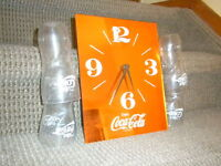 COKE Clock, Glasses and Placemats