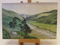 Original Vintage Signed and dated landscape painting by A. Steele - 1978