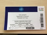 2 Tickets to the Nashville in Concert Farewell UK Tour on Saturday 21 April 2018