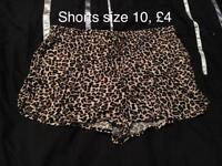 Leopard print shorts size 10
