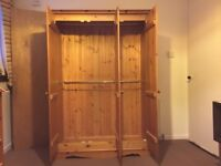 Wardrobe, Triple door, double rail , Wood