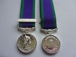 GENERAL SERVICE MINIATURE MEDAL WITH NORTHERN IRELAND BAR - MINI GSM  CSM NI