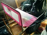 Tomy single bed side rail in pink