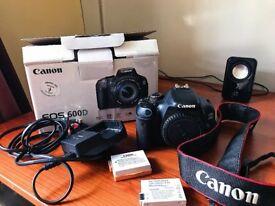 Canon EOS600D w/ 2 x Battery, Original box, 16GB SD card & Canon branded strap