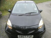one owner 1.0 Aygo black 07 reg only £20 per road tax