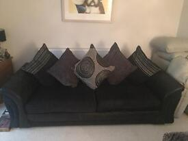 DFS Black 4 and 2 seater sofas