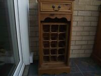 two wooden wine racks, small holds 15 bottles, lg holds 30 bottles